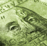 Hundred dollar bill macro shot Royalty Free Stock Images