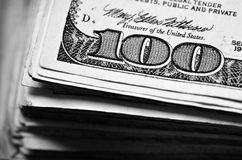 Hundred Dollar Bill Money Cash Royalty Free Stock Photography