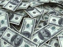 Hundred dollar bill stacks. 3d render hundred dollar bill stacks (depth of field Royalty Free Stock Photos