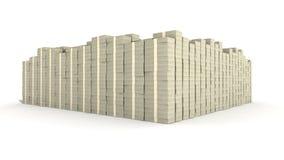 Hundred Dollar Bill Stacks Stock Image