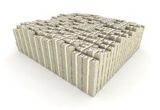 Hundred Dollar Bill Stacks Stock Photo