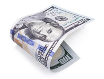 Hundred dollar bill on white Stock Images
