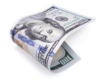 Hundred dollar bill on white Stock Images