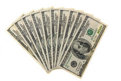 Hundred dollar bills Stock Photos