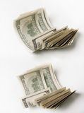 Hundred dollar bills. Some hundred rolled dollar bills Stock Photography