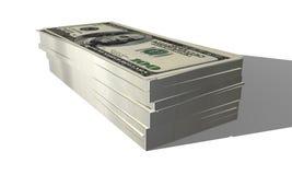 Hundred Dollar Bills. Stack of hundred dollar bills isolated on a white background Stock Image