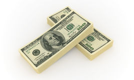 Hundred dollar bills. A lot of money and big profits Stock Image