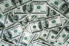 Hundred dollar bills Stock Image