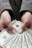 Hundred dollar bills Stock Photos