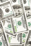 Hundred dollar bills. Close up of hundred dollar bills Stock Image
