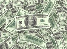 Hundred dollar bills Stock Photography
