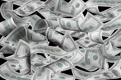Hundred dollar bills Stock Image