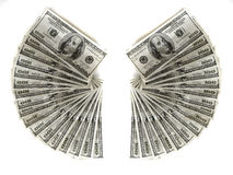 Hundred Dollar Bills American Cash Money. Monetary Royalty Free Stock Image