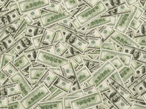 Hundred dollar bills b. American hundred dollar bills background, close up Stock Photography