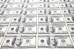 Hundred Dollar Bills Background Royalty Free Stock Photos
