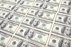 Hundred Dollar Bills Background Stock Image