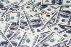 Hundred Dollar Bills for background Royalty Free Stock Photography