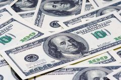Hundred Dollar Bills for background Stock Images