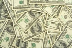 Hundred dollar bills background Royalty Free Stock Images