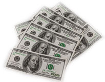 Hundred Dollar Bills for background Stock Images