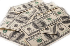 Hundred Dollar Bills for background Stock Photos