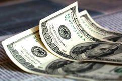 Hundred dollar bills Royalty Free Stock Image