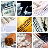 Hundred Dollar-bills collage Stock Photography