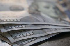 Hundred dollar bills. royalty free stock photography