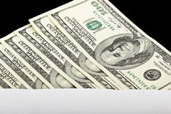 Hundred Dollar Bills in an envelope Royalty Free Stock Photos