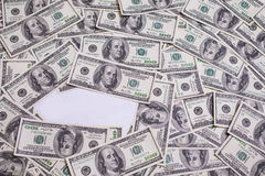 Hundred dollar bills front side stock images