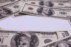 Hundred dollar bills front side. background of dollars Royalty Free Stock Photos
