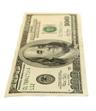 Hundred-dollar bills, isolated. Royalty Free Stock Photography