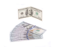 Hundred dollar bills. Stock Images