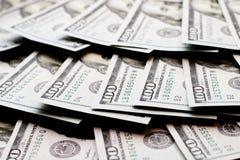 Dollars lie in a fan Royalty Free Stock Image
