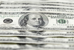 Hundred Dollar Bills Line Stock Photography