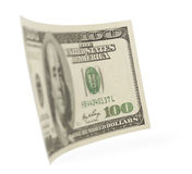 Hundred dollar bills in the long run Royalty Free Stock Photo