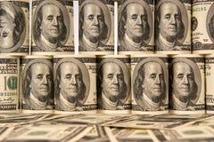 Hundred dollar bills money pile Royalty Free Stock Images