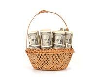 Hundred dollar bills money pile Stock Photos