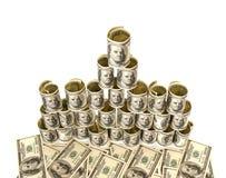 Hundred dollar bills money pile Stock Image