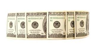 Hundred dollar bills money pile Stock Images