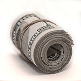 Hundred dollar bills. Rolled up Royalty Free Stock Photos