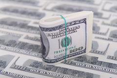 Hundred dollar bills Royalty Free Stock Photos