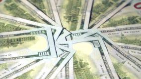 Hundred dollar bills rotate. US Dollars stock footage