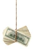 Hundred-dollar bills tied Royalty Free Stock Photo