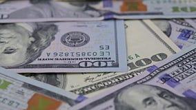 Hundred dollar bills stock video