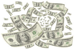 Hundred-dollar bills. Royalty Free Stock Images