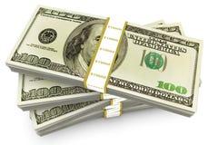 Hundred Dollar Bundles Stock Photos