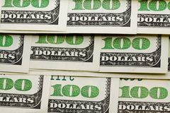 Hundred dollar denominations Royalty Free Stock Image