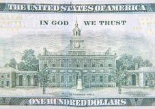 Hundred dollar detail Stock Image