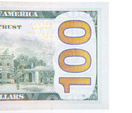 Hundred dollar note detail Stock Images